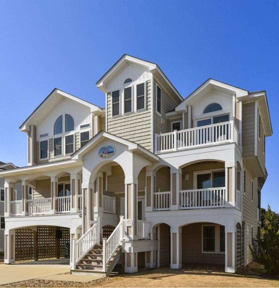 Exterior of a Three Story Outer Banks Vacation Rentals